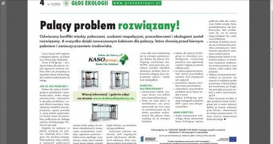 Ekologia i Kabiny dla palaczy KASOgroup